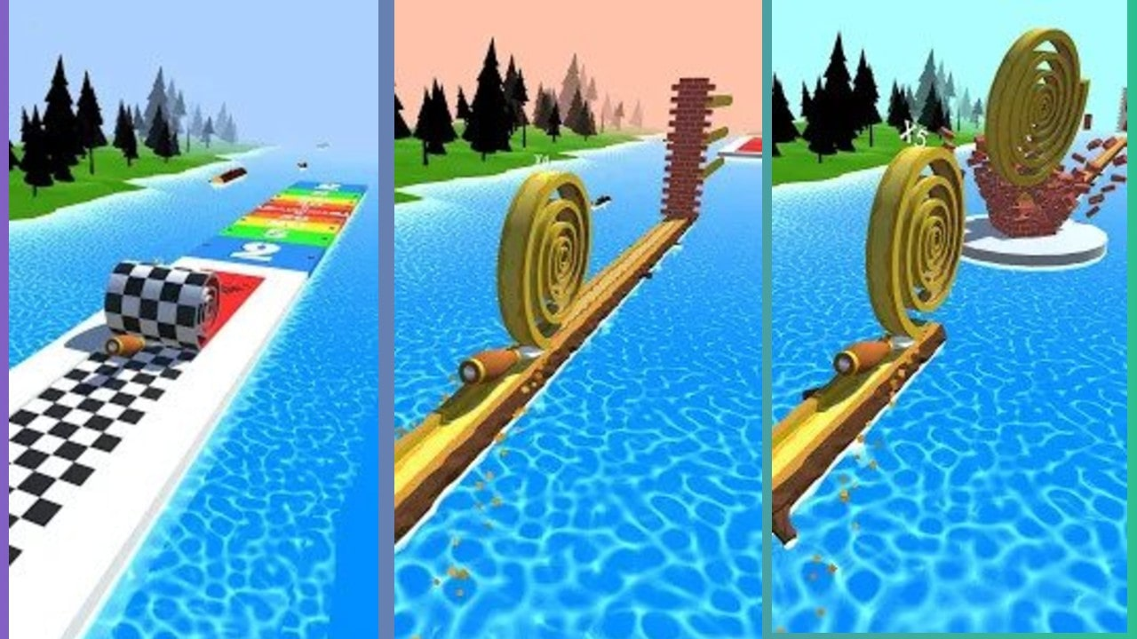 This is spiral roll mod apk image