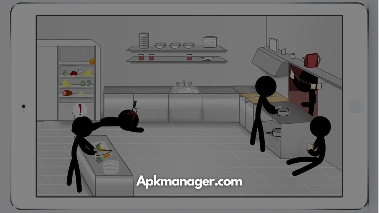 Download Stickman Death Kitchen For Android v1.0.4 [100% Working]