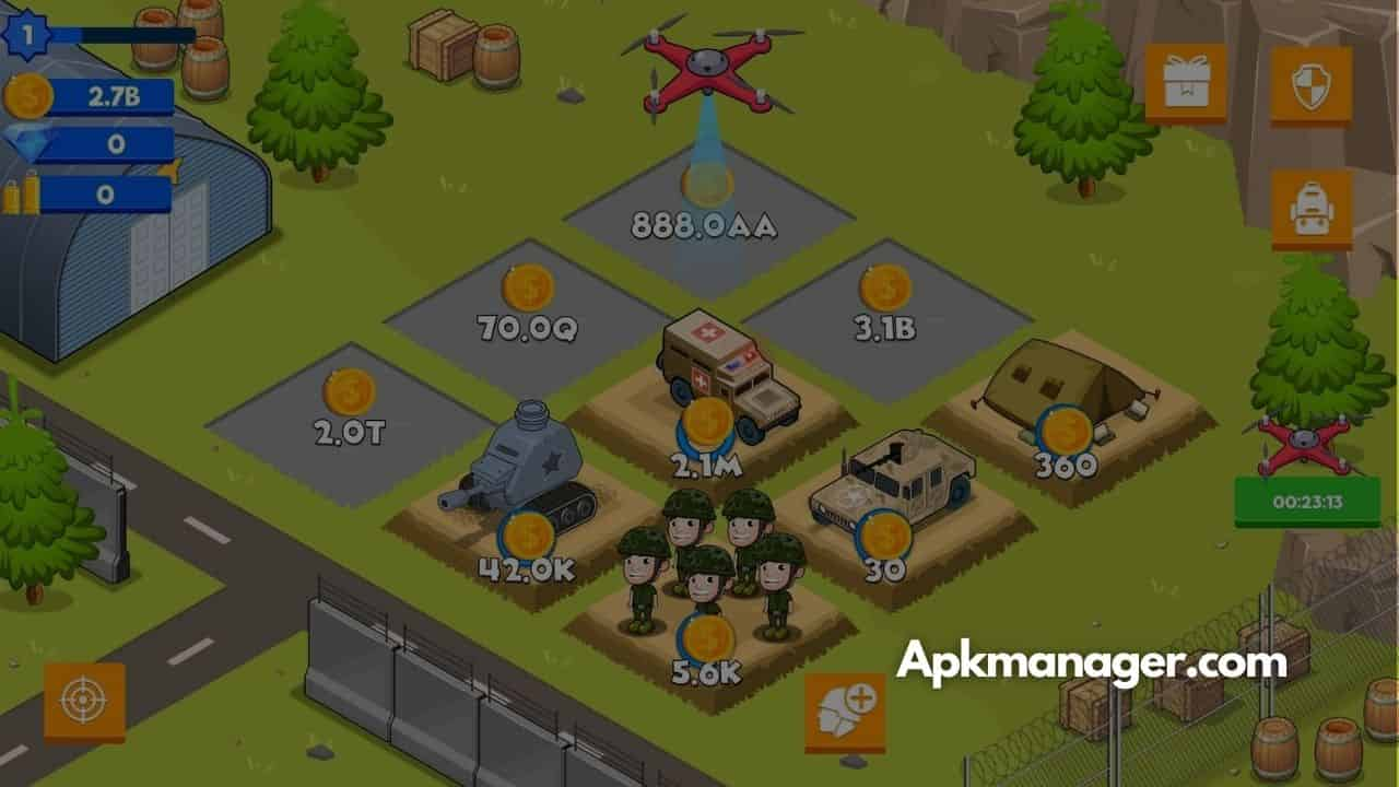 Idle Army Base Mod APK v1.25.0  Download for Free [100% Working]